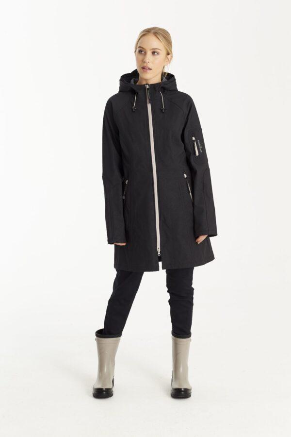 Ilse Jacobsen softshell regnfrakke dame lang RAIN50