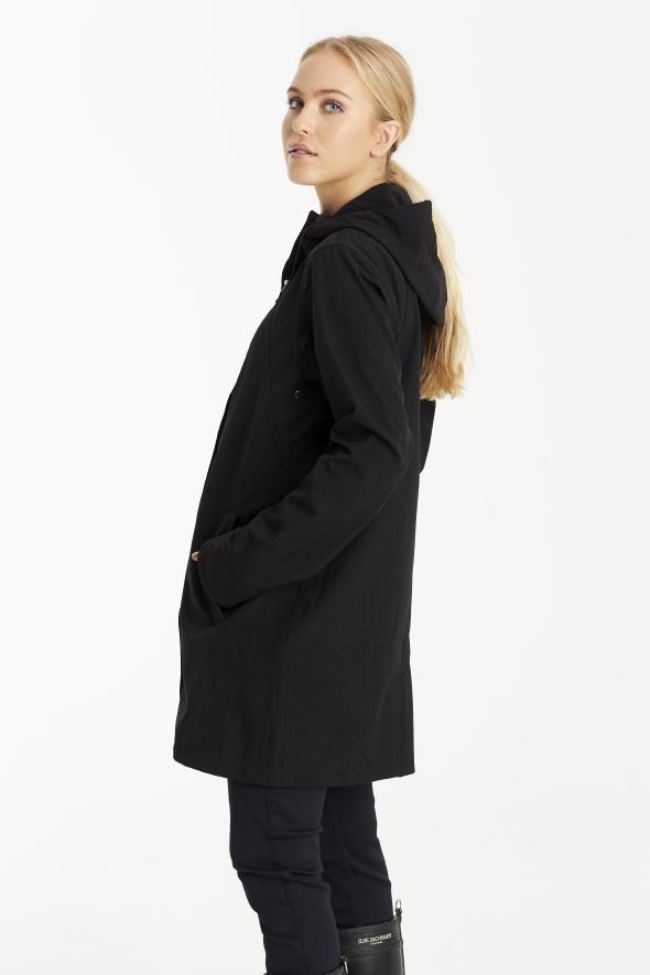 Ilse Jacobsen softshell regnfrakke dame lang 3/4 RAIN50