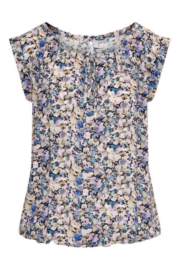 Dreamstar bluse dame med blomster print CIANNA