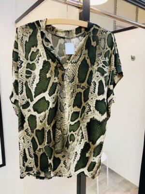 Bluse med slange print