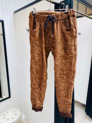 Bukser dame i ruskind look
