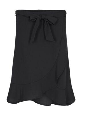 Mangler du en super fin nederdel med lidt længde. Soya Concept nederdel dame med flæser absolut must til din garderobe! Flot dametøj online.