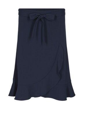 Soya Concept nederdel dame med flæser Siham24 (navy) Skirt
