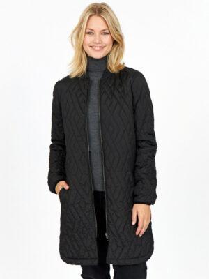 Soyaconcept quilt jakke dame overgangsjakke sort SC-FENYA10