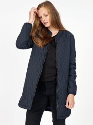 Soya Concept quilt jakke dame overgangsjakke blå navy SC-FENYA10