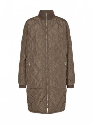 Soyaconcept quilt jakke dame overgangsjakke grå/grøn ASMINE2.termojakke dame