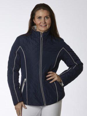 Danwear quilt jakke med lynlås