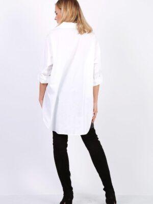 Onesize hvid skjorte i bomuld i oversize