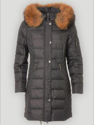 danwear vinterjakke dame med pels