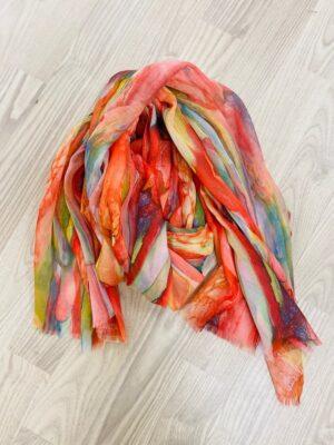 Bella Donna tørklæde dame med farverige mønstre