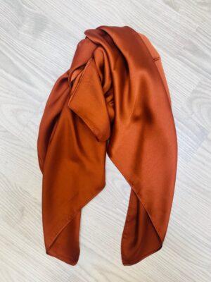 Bella Donna lille rust tørklæde dame i silke look