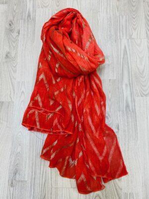 Bella Donna koral tørklæde dame med guld mønstre