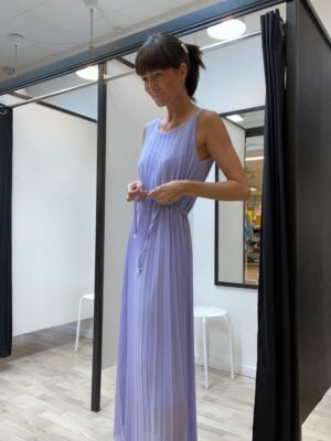 Lang onesize plisseret kjole