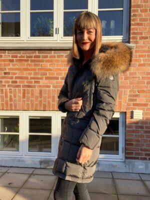 Danwear dunjakke dame med pels