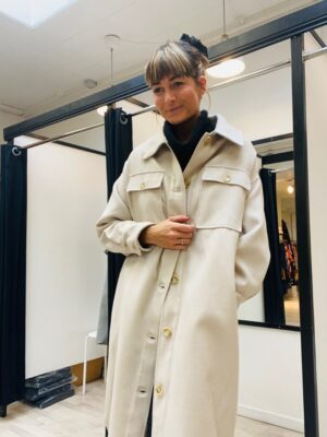 Vie ta Vie frakke dame med længde i uld look