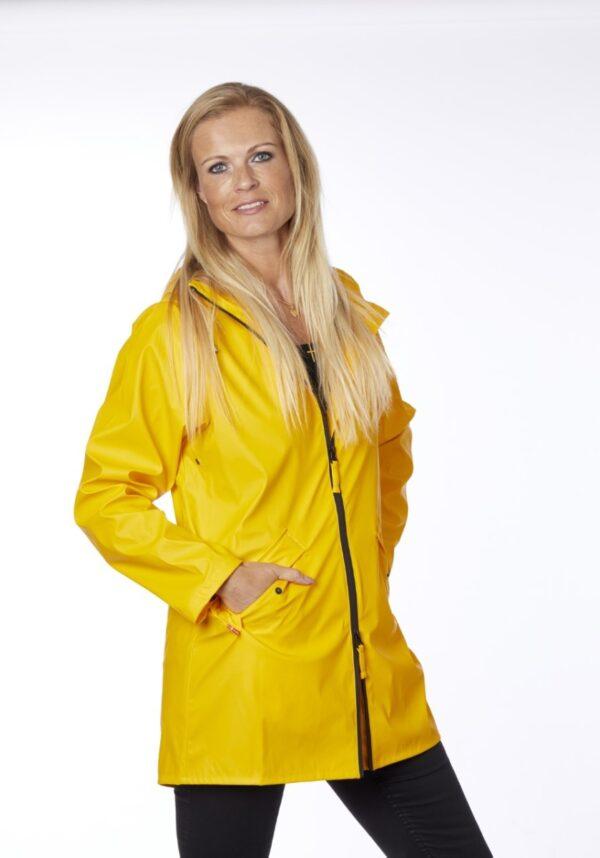 Danwear regnjakke dame gul Cille