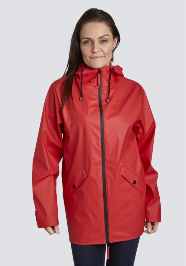 Danwear regnjakke dame Cille rød